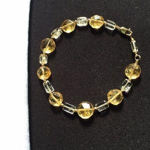 Jewelry - Citrine & Clear Quartz Bracelet